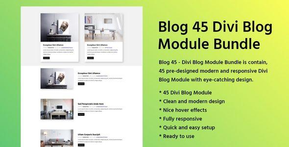 Blog 45 – Divi Blog Module Bundle on Divi Cake