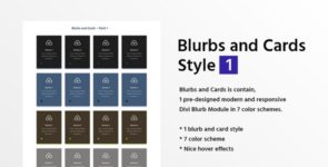 Blurbs and Cards Style 1 on Divi Cake