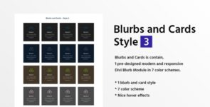 Blurbs and Cards Style 3 on Divi Cake