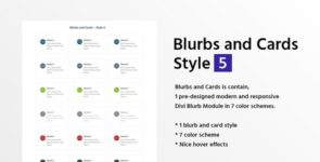 Blurbs and Cards Style 5 on Divi Cake