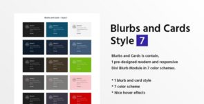Blurbs and Cards Style 7 on Divi Cake