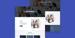 Business 10 Divi Layout Pack – 10 Homepage layout on Divi Cake