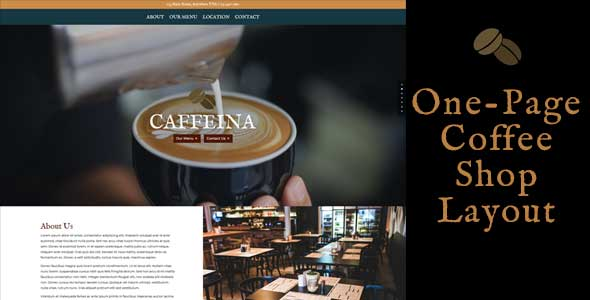 Caffeina – One Page Coffee Shop Layout on Divi Cake