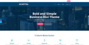 Capital on Divi Cake