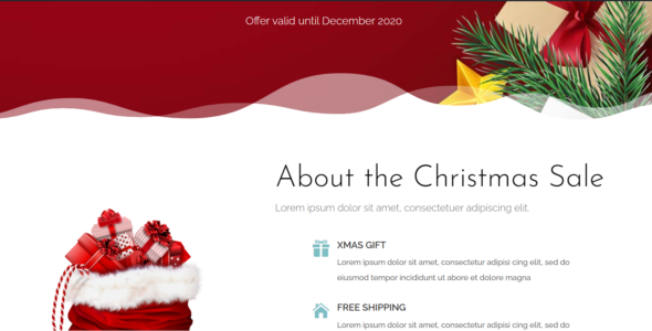 The Divi Christmas Layout on Divi Cake