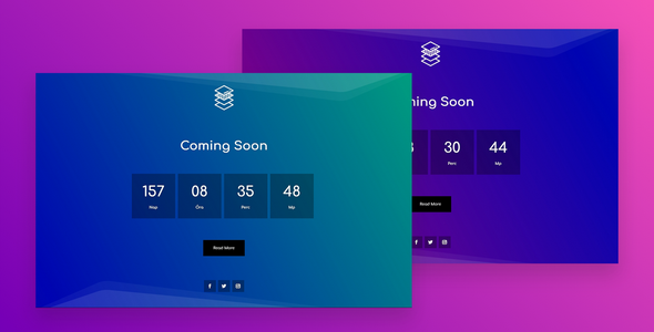 Coming Soon Page With Animated Gradient Background on Divi Cake