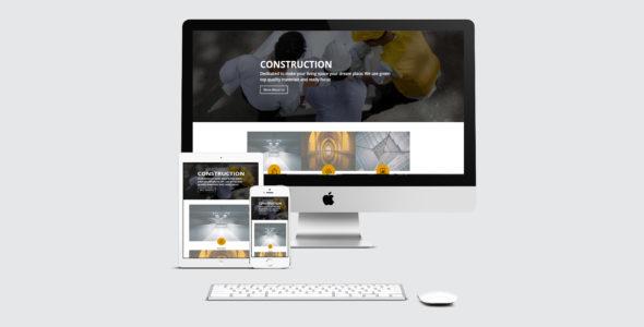 Contemporary Divi Construction Layout on Divi Cake
