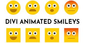 Divi Animated Smileys on Divi Cake