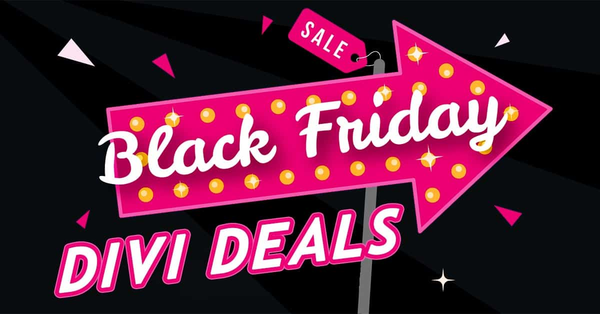 Best Divi Black Friday Deals (2018)