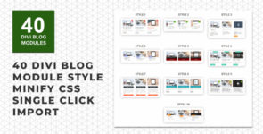 Divi Blog Layouts Pack on Divi Cake