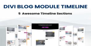 Divi Blog Module Timeline Layouts on Divi Cake
