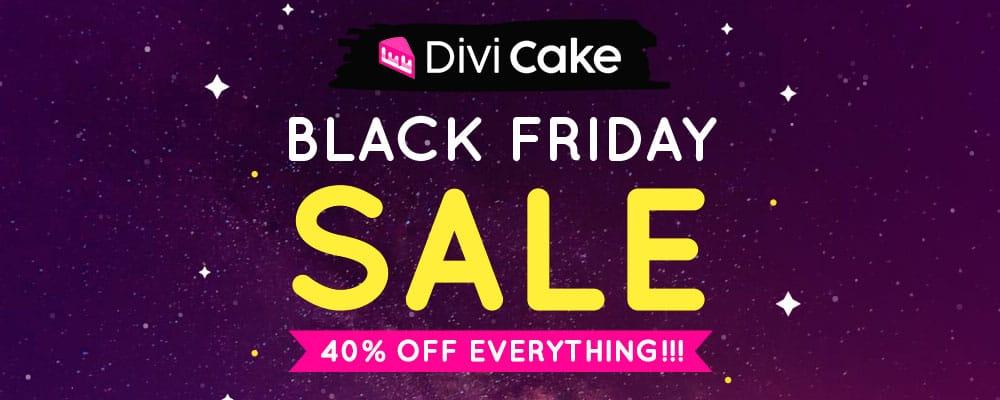 Divi Cake Black Friday Deal 2018