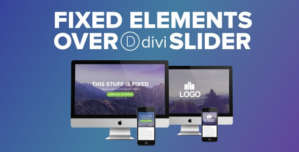 Fixed Elements over Divi Slider on Divi Cake