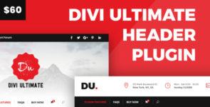 Divi Ultimate Header Plugin on Divi Cake