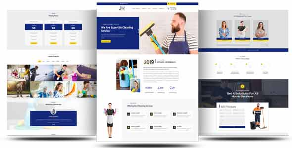 Divi Cleaning Service Multi-Page Theme on Divi Cake