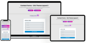 Contact Forms – Divi Theme Layout 2 on Divi Cake