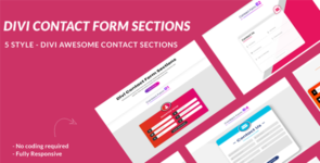 Divi Contact Form Sections Layout on Divi Cake