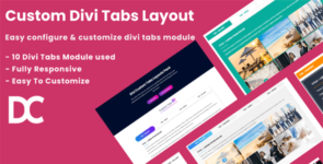 Divi Custom Tabs Layouts Pack on Divi Cake