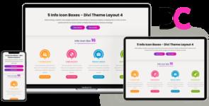Info Icon Boxes – Divi Theme Layout 4 on Divi Cake
