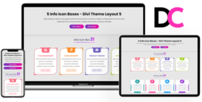 Info Icon Boxes – Divi Theme Layout 5 on Divi Cake