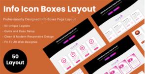 Divi Info Icon Boxes Layout Bundle on Divi Cake