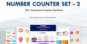 Divi Number Counter Layout – Set 2 on Divi Cake