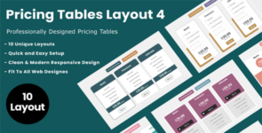 Divi Switch Pricing Tables Layout 4 on Divi Cake