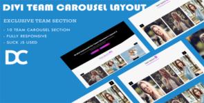 Divi Team Carousel Layout 2 on Divi Cake