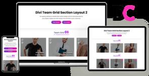 Team Grid – Divi Section Layout 2 on Divi Cake