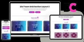 Team Grid – Divi Section Layout 3 on Divi Cake