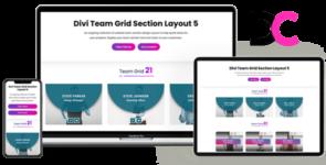 Team Grid – Divi Section Layout 5 on Divi Cake