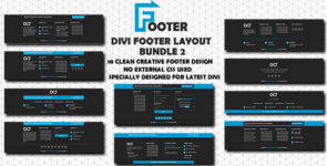 Divi Footer Layout Bundle 2 on Divi Cake