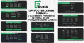Divi Footer Layout Bundle 3 on Divi Cake