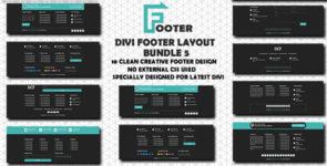 Divi Footer Layout Bundle 5 on Divi Cake