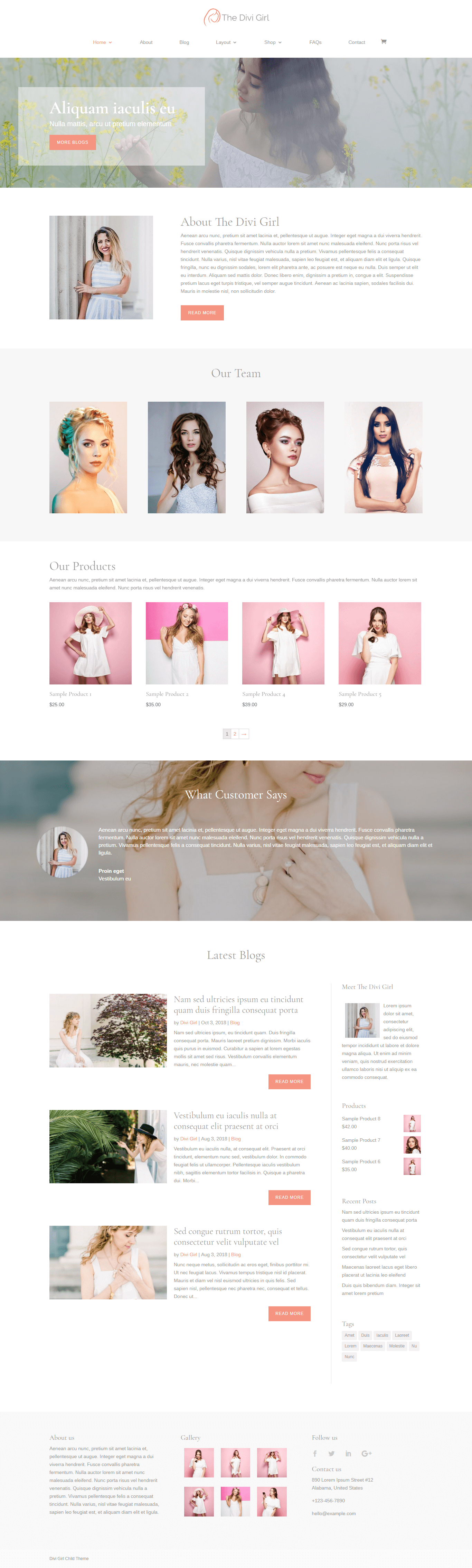 Divi Child Theme for Female Bloggers