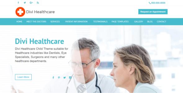 Divi Healthcare on Divi Cake