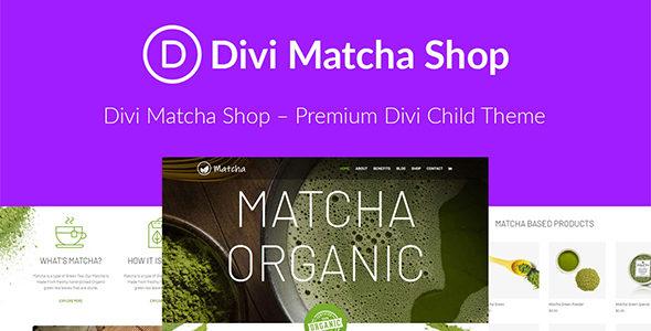 Matcha Shop on Divi Cake