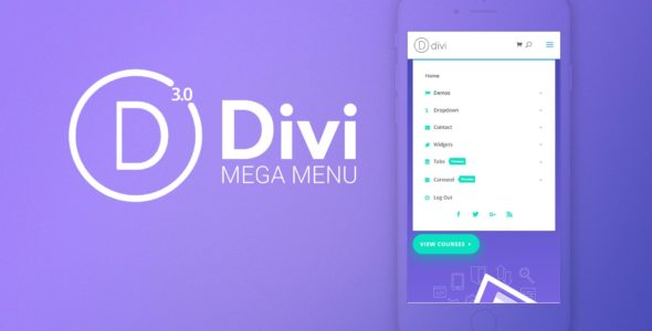 Divi Mega Menu on Divi Cake