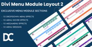 Divi Menu Module Designs Layout Pack 2 on Divi Cake