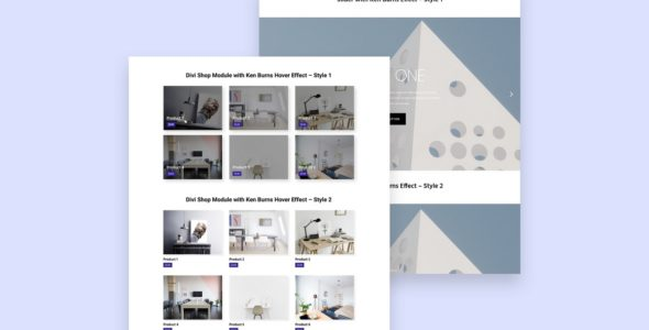 Divi Module Layout Pack on Divi Cake