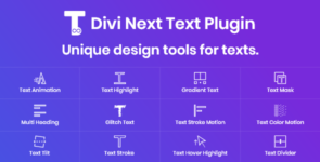 Divi Next Texts (Version 2.0) on Divi Cake