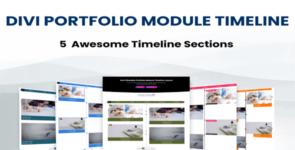 Divi Portfolio Module Timeline Layouts on Divi Cake