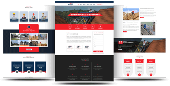 DIVI Roofing Theme on Divi Cake
