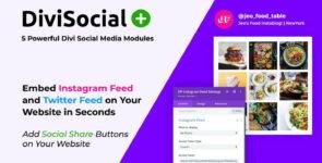 Divi Social Plus on Divi Cake