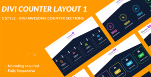 Divi Counter Section Layout 1 on Divi Cake