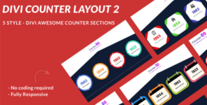 Divi Counter Section Layout 2 on Divi Cake