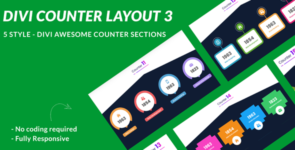 Divi Counter Section Layout 3 on Divi Cake