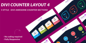 Divi Counter Section Layout 4 on Divi Cake