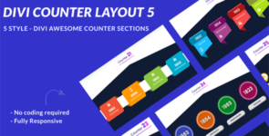 Divi Counter Section Layout 5 on Divi Cake