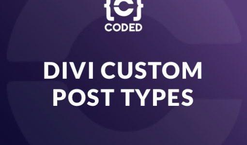 Divi Custom Post Types on Divi Cake